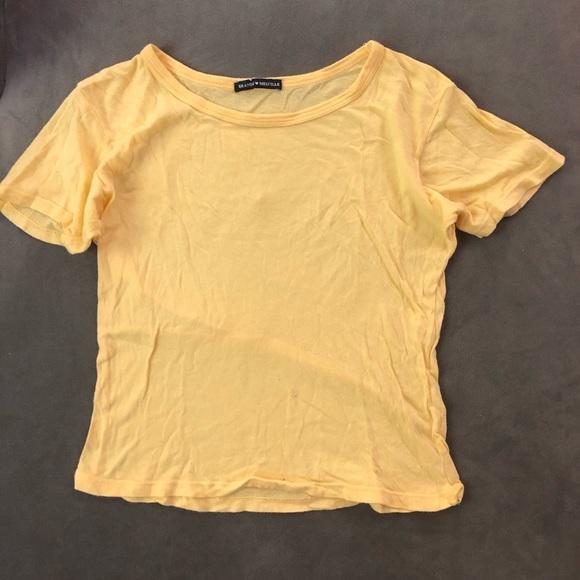 Brandy Melville Tops - Yellow Brandy Melville Crop Tee